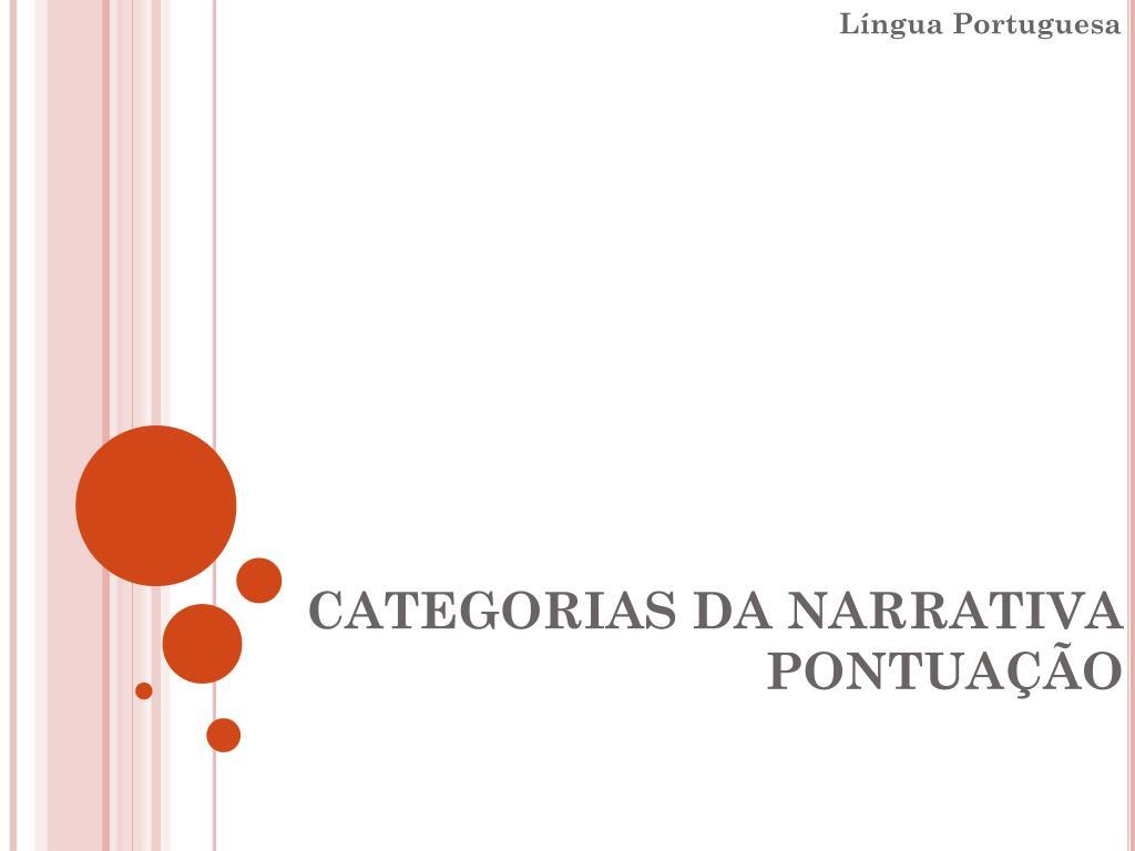 categorias da narrativa pontua o l.