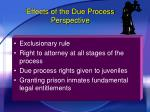 effects of the due process perspective