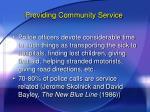 providing community service