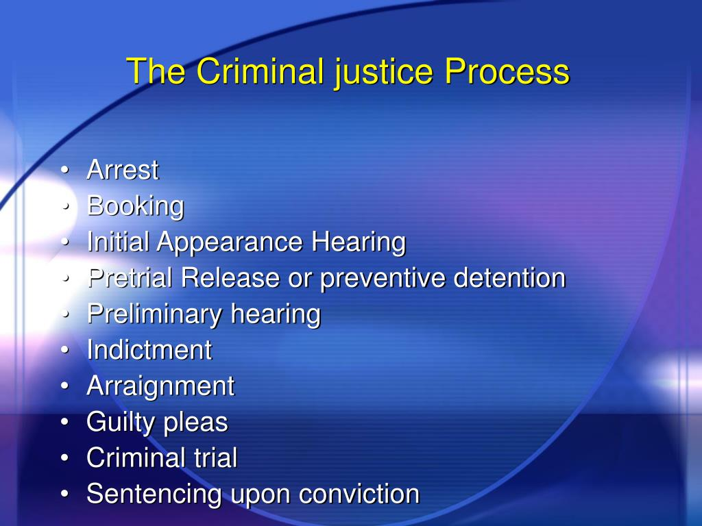 criminal justice system procedures Within this essay, i will be looking at the procedures in the criminal justice system before laying the foundations of this work, i will briefly dedicate a few lines.