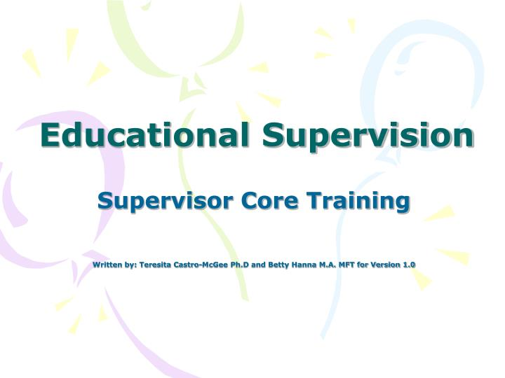 educational supervision n.