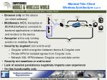 minimal thin client wireless architecture cont d