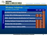 wireless initiatives cont d identified in october 2006