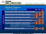 wireless initiatives identified in october 2006