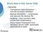 what s new in sql server 2008