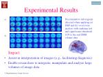 experimental results18