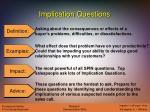 implication questions