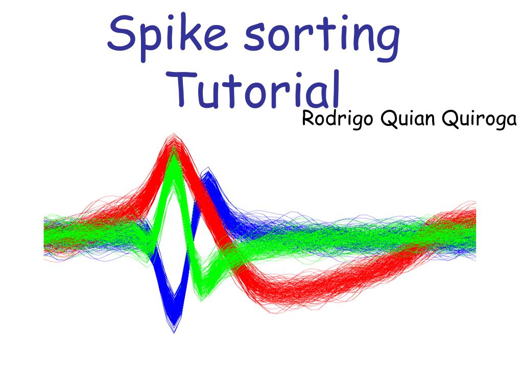 spike sorting tutorial l.