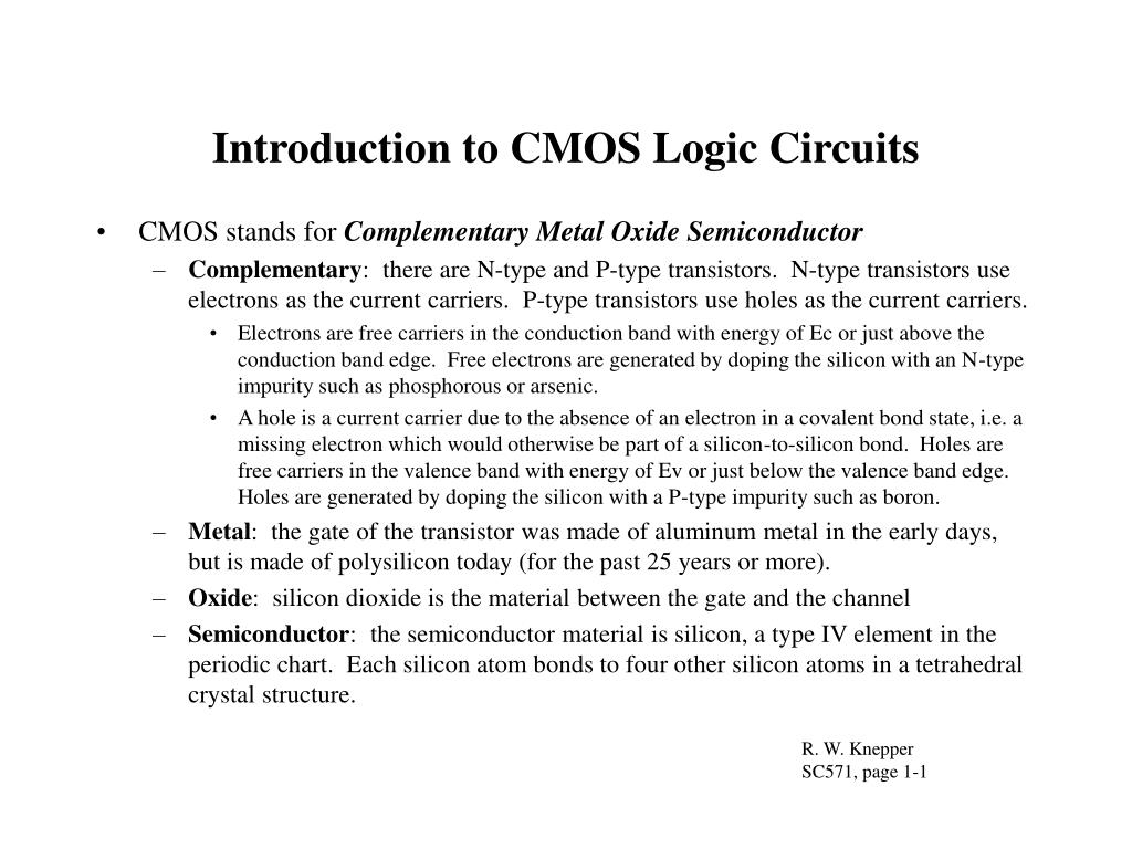 introduction to cmos logic circuits l.