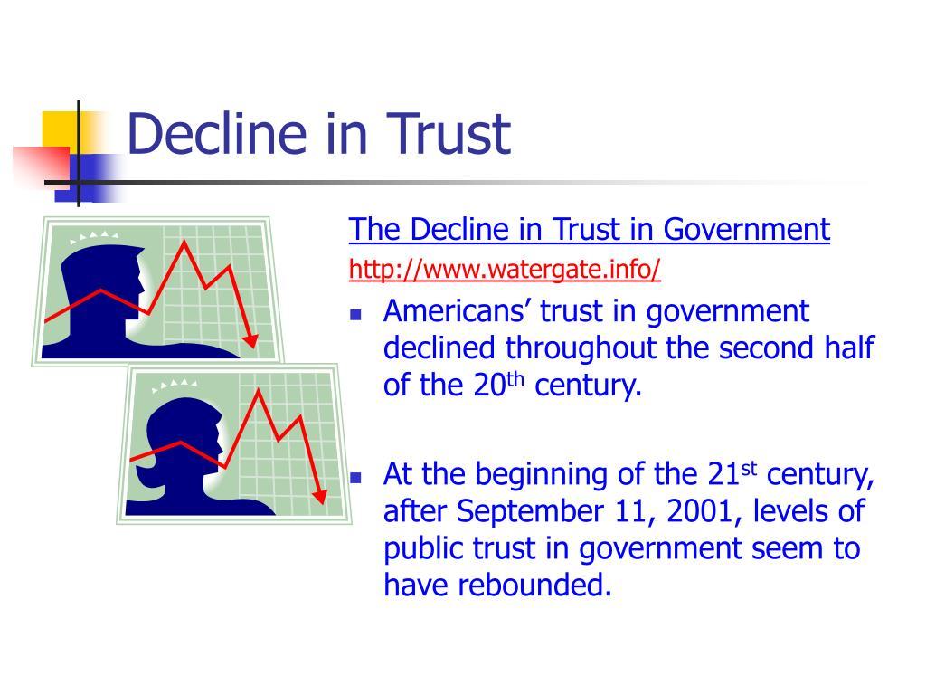 Decline in Trust