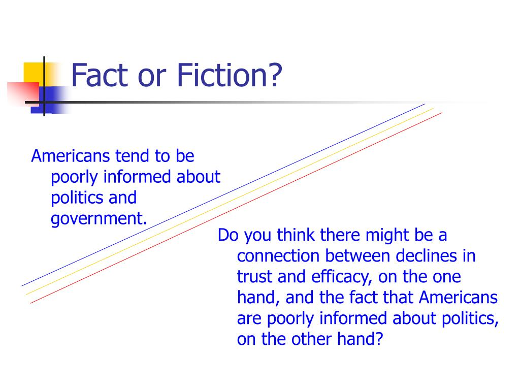 Americans tend to be poorly informed about politics and government.