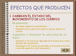 efectos que producen