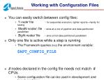 working with configuration files