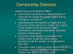 censorship debates34