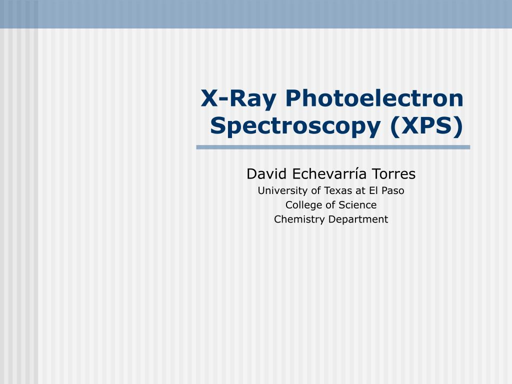 x ray photoelectron spectroscopy xps l.