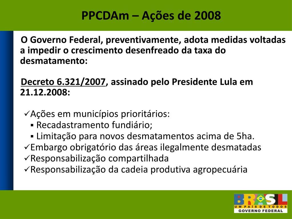 PPCDAm – Ações de 2008