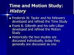 time and motion study history