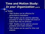 time and motion study in your organization cont d