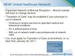 new united healthcare network