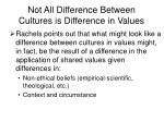 not all difference between cultures is difference in values