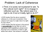 problem lack of coherence35