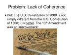 problem lack of coherence37