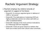 rachels argument strategy