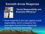 kenneth arrow response
