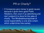 pr or charity