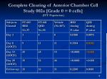 complete clearing of anterior chamber cell study 002a grade 0 0 cells itt population