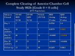 complete clearing of anterior chamber cell study 002b grade 0 0 cells itt population