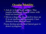 occular motility