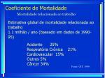 coeficiente de mortalidade80