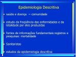 epidemiologia descritiva111