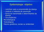 epidemiologia objetivo