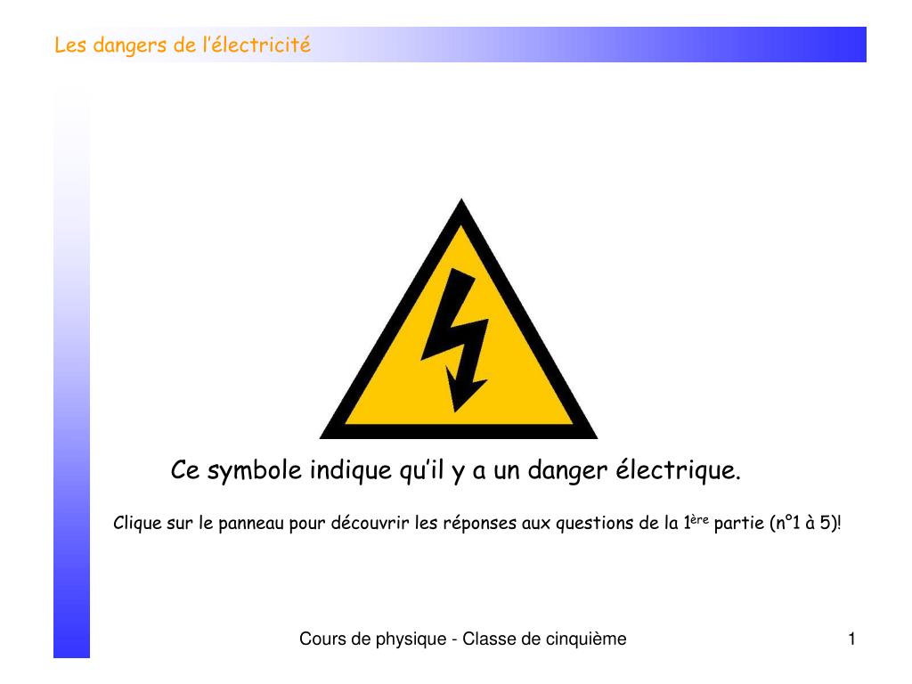 les dangers de l lectricit l.