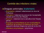 contr le des infections virales47