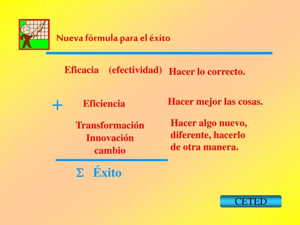 Nueva fórmula para el éxito