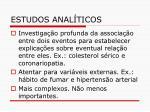 estudos anal ticos