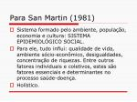 para san martin 1981