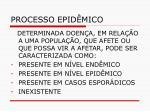 processo epid mico