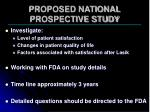 proposed national prospective study