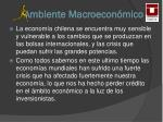 ambiente macroecon mico