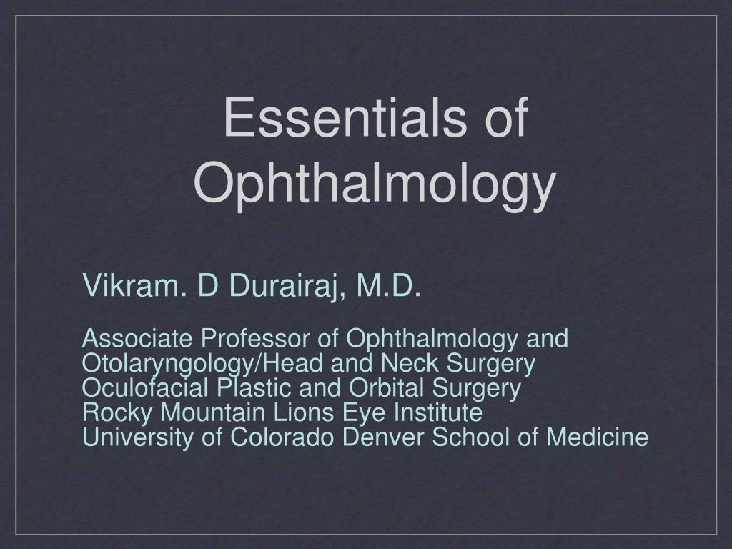 essentials of ophthalmology l.