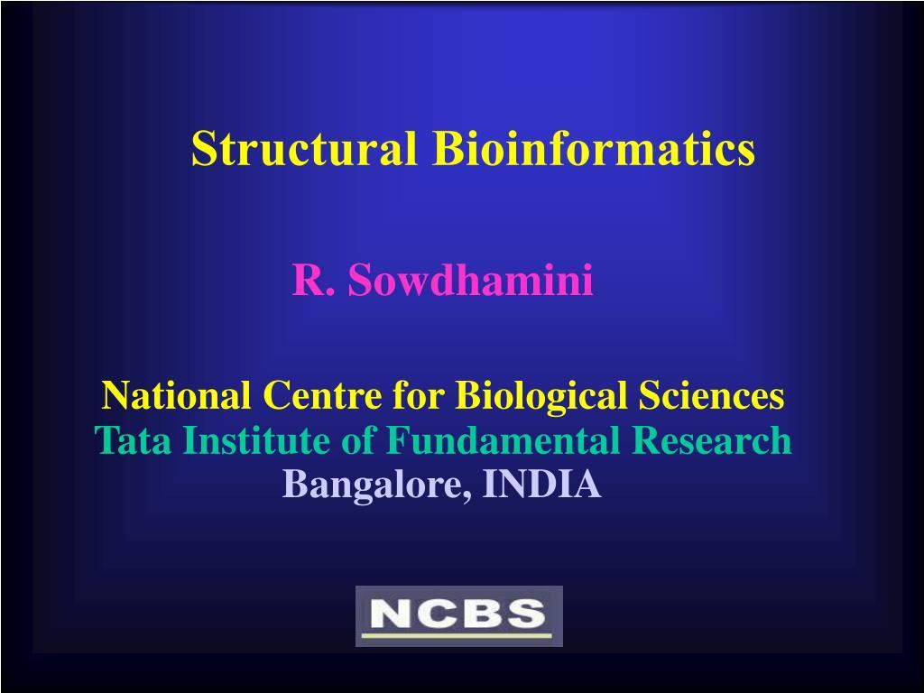 structural bioinformatics l.
