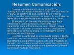resumen comunicaci n