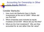 accounting for ownership in other co s equity method19