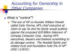 accounting for ownership in other companies12
