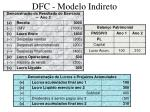dfc modelo indireto