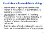 empiricism in research methodology